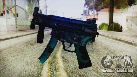 MP5K Black Blue Abstract für GTA San Andreas zweiten Screenshot