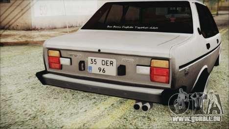 Tofas 131 Mirafiori Edition für GTA San Andreas Rückansicht