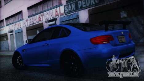 BMW M3 GTS 2011 HQLM für GTA San Andreas zurück linke Ansicht