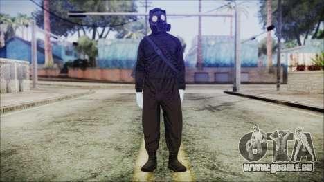 GTA 5 Online The Heist Gasmask White für GTA San Andreas zweiten Screenshot