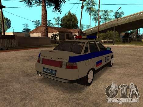 VAZ 2110 DPS für GTA San Andreas zurück linke Ansicht