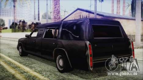 The Romeros Hearse pour GTA San Andreas laissé vue