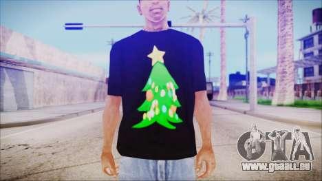 T-Shirt Christmas Tree pour GTA San Andreas troisième écran