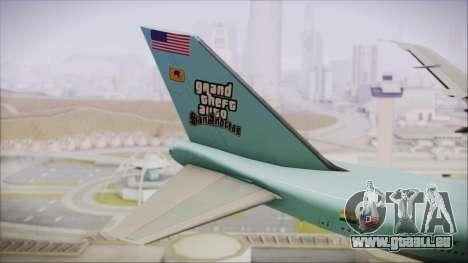 Boeing 747-100 Blue pour GTA San Andreas sur la vue arrière gauche