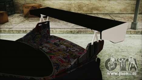 Nissan Skyline R33 Widebody v2.0 pour GTA San Andreas vue arrière
