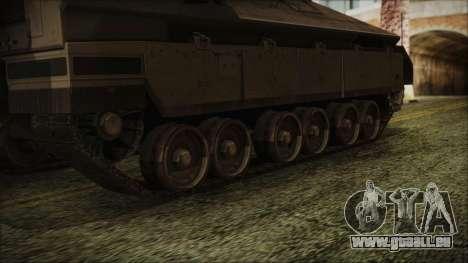 IFV-6C Panther Tracked IFV pour GTA San Andreas sur la vue arrière gauche