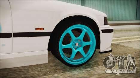 BMW M3 E36 Frozen für GTA San Andreas zurück linke Ansicht