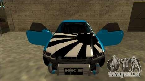 Nissan Skyline R34 Drift für GTA San Andreas obere Ansicht