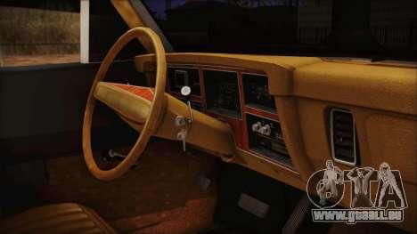 Dodge Dart 1975 pour GTA San Andreas vue de droite