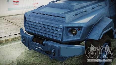 GTA 5 HVY Insurgent Van IVF für GTA San Andreas rechten Ansicht