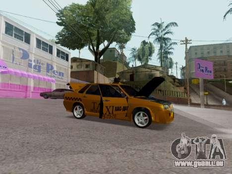 VAZ 21099 Tuning Russian Taxi für GTA San Andreas Rückansicht