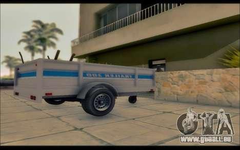 GTA V Remorque Utilitaire pour GTA San Andreas laissé vue