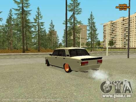 VAZ 2107 Voiture pour GTA San Andreas vue arrière