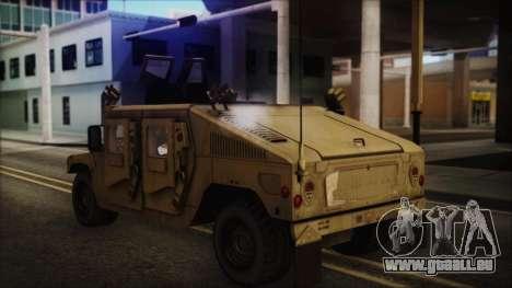 HMMWV Patriot pour GTA San Andreas laissé vue
