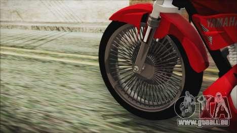 Yamaha YBR Tuning pour GTA San Andreas sur la vue arrière gauche
