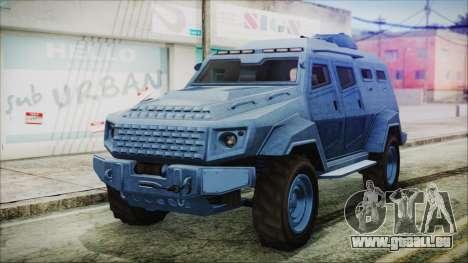 GTA 5 HVY Insurgent Van IVF für GTA San Andreas