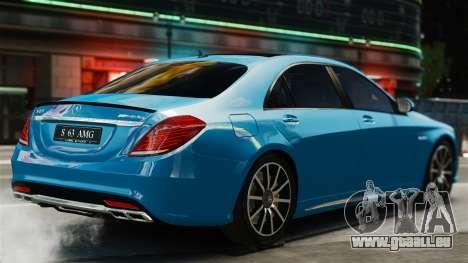 Mercedes-Benz S63 W222 AMG für GTA 4 hinten links Ansicht