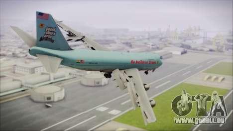 Boeing 747-100 Blue pour GTA San Andreas laissé vue