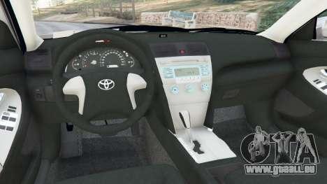 GTA 5 Toyota Camry 2011 arrière droit vue de côté