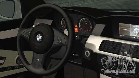 BMW M5 E60 2009 pour GTA San Andreas vue de droite