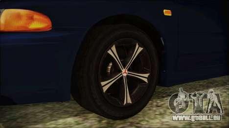 Mitsubishi Lancer 1998 pour GTA San Andreas sur la vue arrière gauche