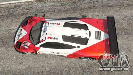 McLaren F1 GTR Longtail [Marlboro] pour GTA 5