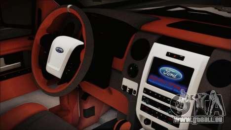Ford F-150 SVT Raptor 2012 Police Version pour GTA San Andreas vue de droite