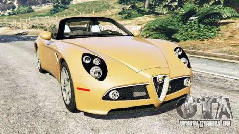 Alfa Romeo 8C Spider 2012 für GTA 5