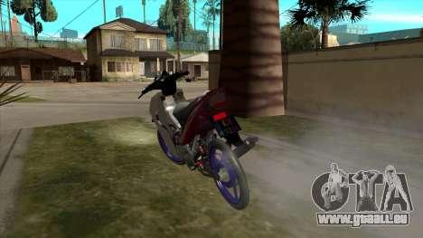 Yamaha 125z pour GTA San Andreas vue arrière