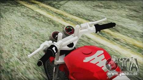 Yamaha YBR Tuning für GTA San Andreas Rückansicht
