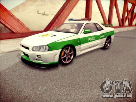 Nissan Skyline Iranian Police pour GTA San Andreas