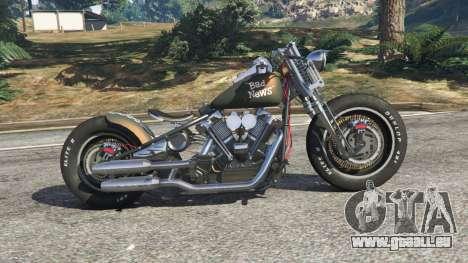 GTA 5 Harley-Davidson Knucklehead Bobber vue latérale gauche