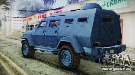 GTA 5 HVY Insurgent Van IVF pour GTA San Andreas laissé vue