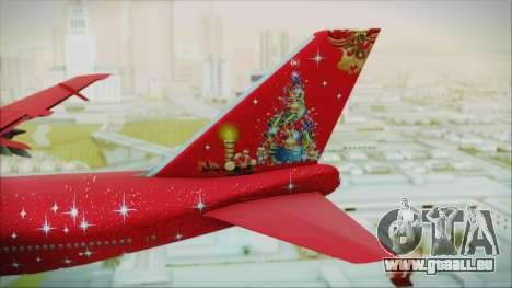 Boeing 747-100 Merry Christmas pour GTA San Andreas sur la vue arrière gauche