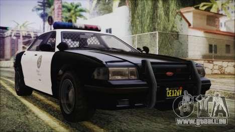 GTA 5 Vapid Stranier II Police Cruiser pour GTA San Andreas