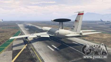 GTA 5 Boeing E-3 Sentry troisième capture d'écran
