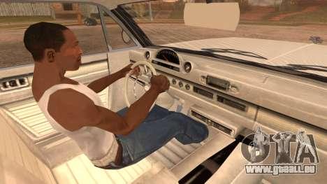 GTA 5 Declasse Clean Voodoo Hydra Version pour GTA San Andreas sur la vue arrière gauche