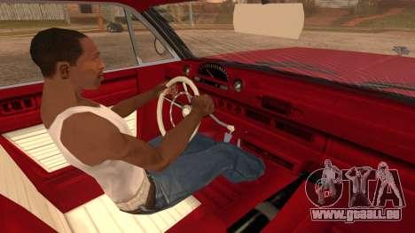 GTA 5 Declasse Clean Voodoo Bobble Version pour GTA San Andreas sur la vue arrière gauche