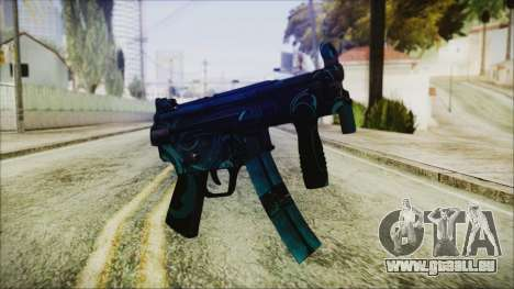 MP5K Black Blue Abstract pour GTA San Andreas