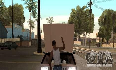 Ouvrir le capot ou du coffre mains pour GTA San Andreas