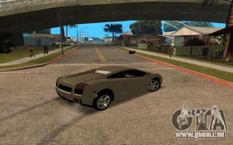 Lamborghini Gallardo Tunable v2 pour GTA San Andreas vue de dessus