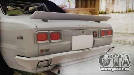 Nissan Skyline GT-R Hakosuka für GTA San Andreas Rückansicht