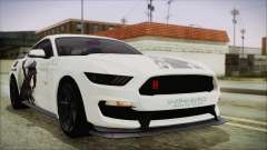 Ford Mustang Shelby GT350R 2016 Kirito Itasha pour GTA San Andreas