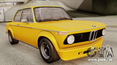 BMW 2002 Turbo 1973 Stock pour GTA San Andreas