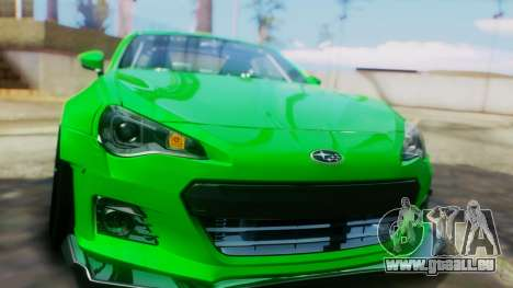 Subaru BRZ 2013 Rocket Bunny für GTA San Andreas Seitenansicht