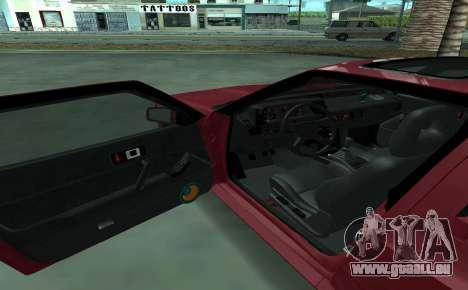 Mitsubishi Starion ECI-R für GTA San Andreas Innenansicht