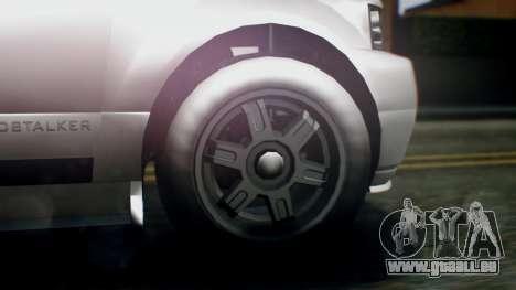 GTA 5 Dundreary Landstalker IVF pour GTA San Andreas sur la vue arrière gauche
