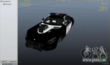GTA 5 LAPD Mercedes-Benz AMG GT 2016 rechte Seitenansicht