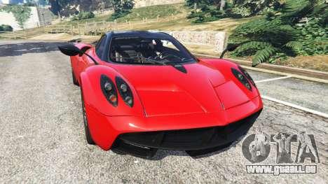 Pagani Huayra 2013 v1.1 [black and red rims] für GTA 5