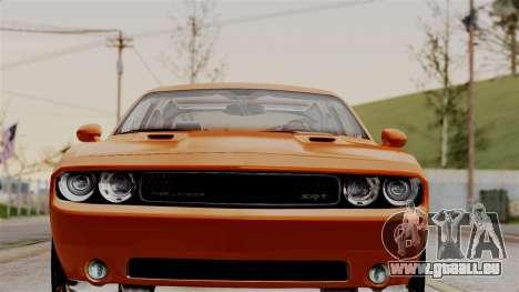 Dodge Challenger SRT-8 2010 pour GTA San Andreas sur la vue arrière gauche